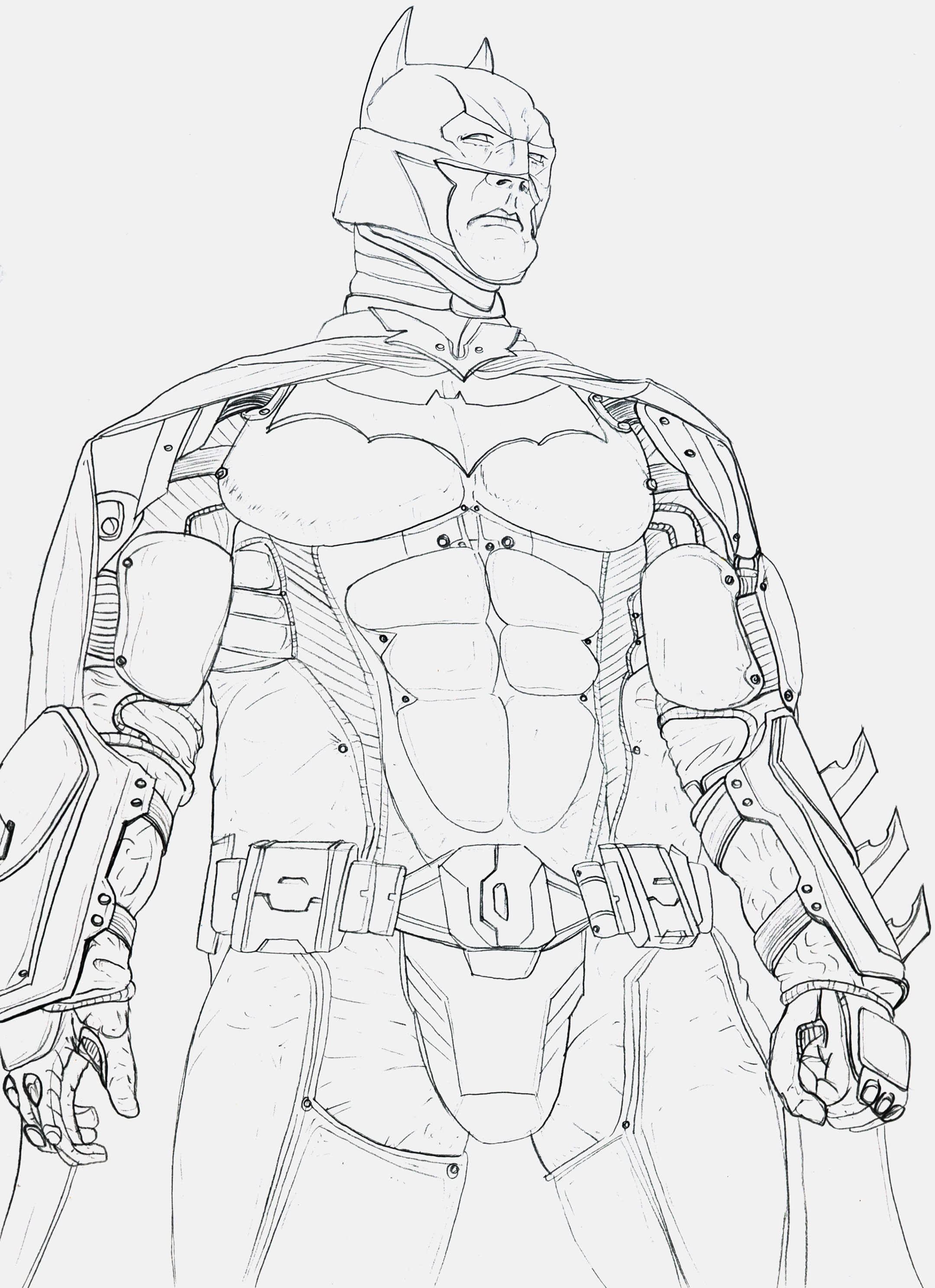 2159x2975 Batman Arkham Knight Sketches Drawings Batman Coloring Pages