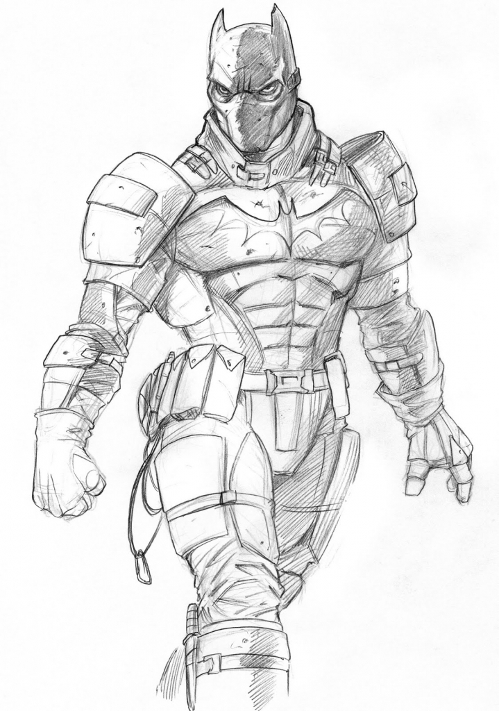 719x1024 Batman Best Pencil Drawing Drawing Batman Arkham Knight Speed