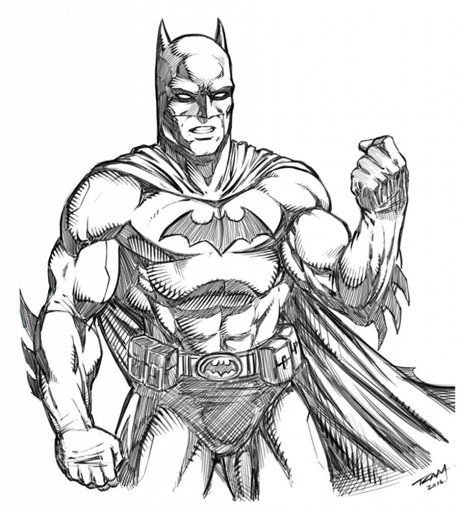 918x1024 Batman Drawing Image Drawing Batman Arkham Knight Speed Painting