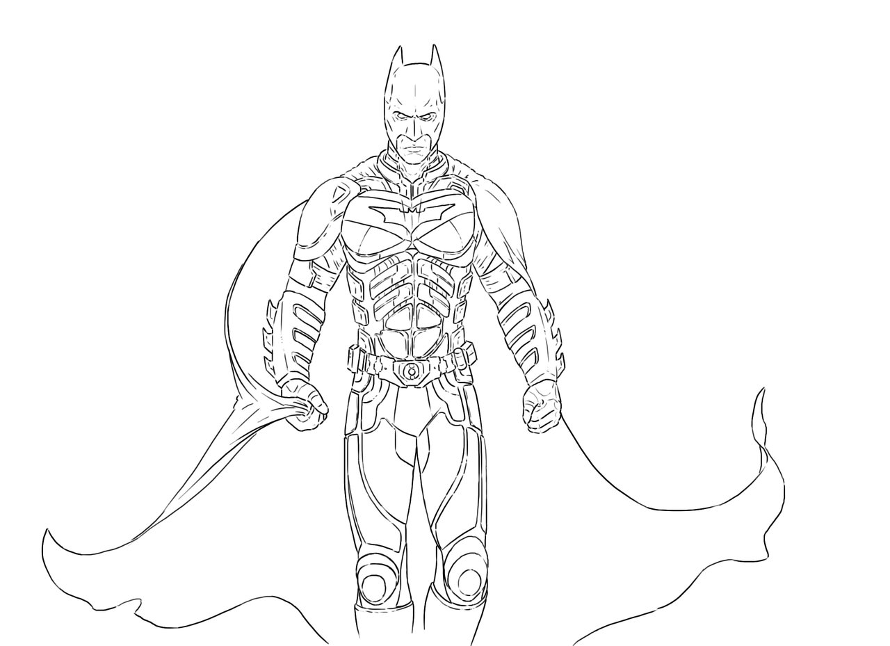 1280x929 The Dark Knight Outlines By Herpderp187