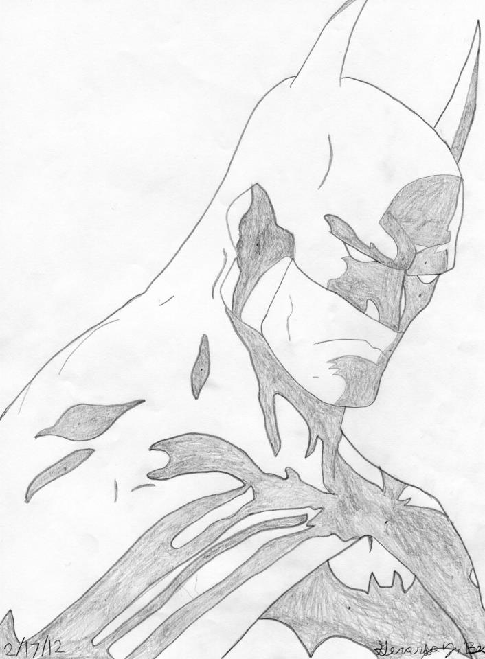 706x960 Batman Gotham Knight Drawing