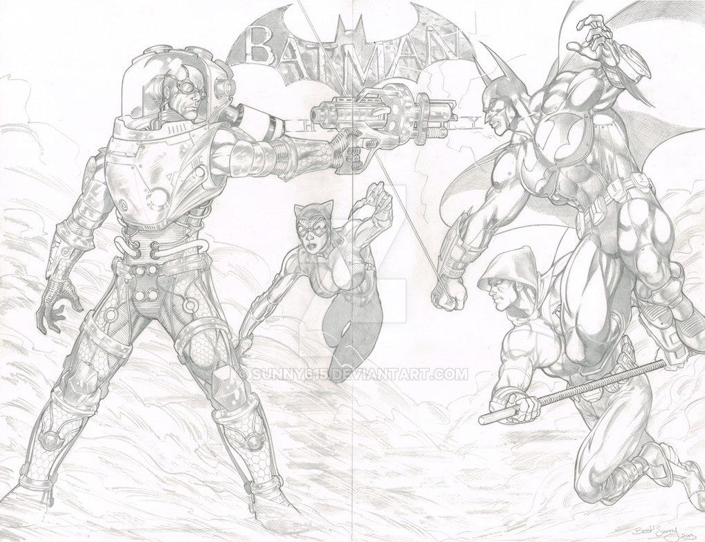 1019x784 Batman Arkham City Commission By Sunny615
