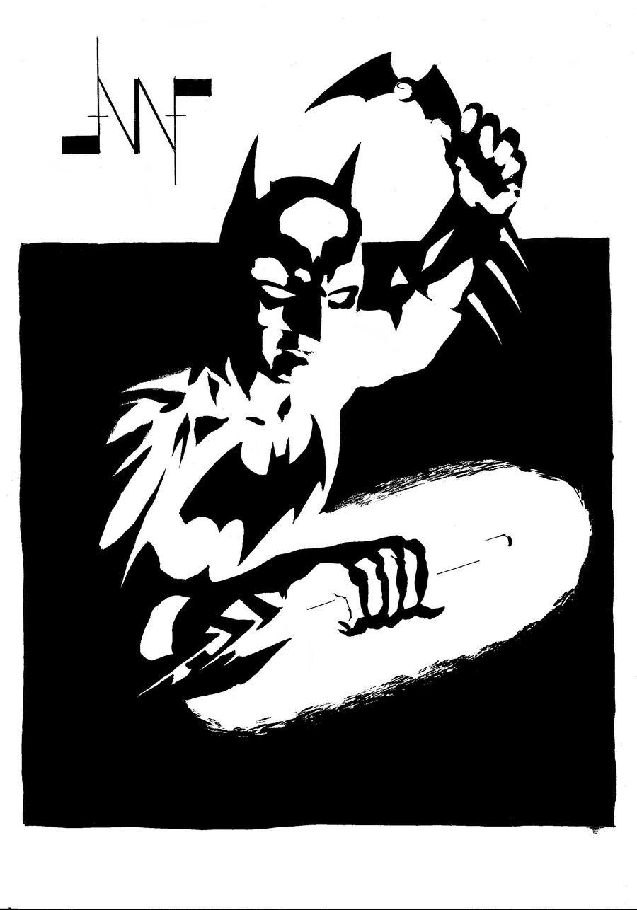 900x1286 Batman Black And White By Albertonavajo