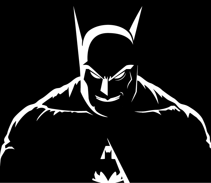 865x750 Batman Black And White By Bat Dan