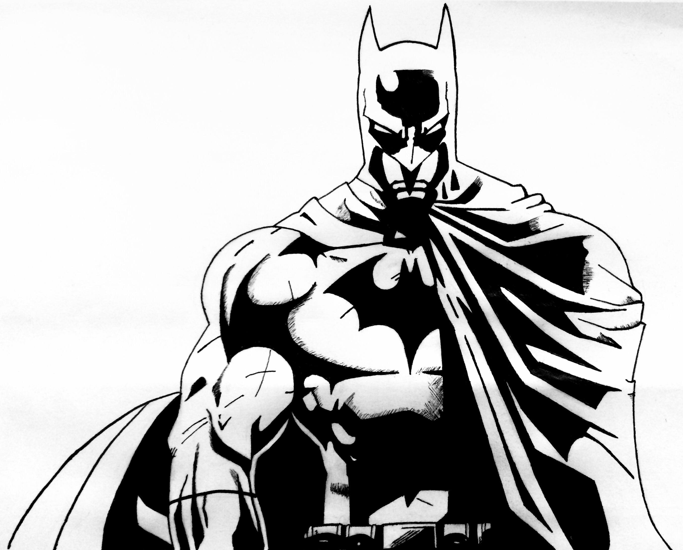 2712x2185 Batman Ink A4 Httpift.tt2fiil3x Art A4