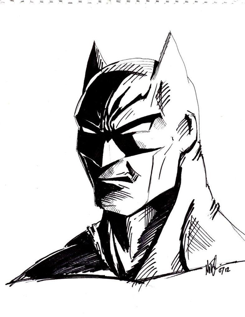 786x1017 Batman Sketch By Vail Akatosh