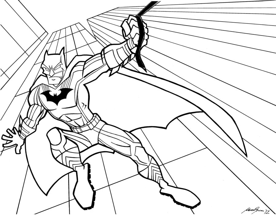 900x701 Batman Black E White By Granamir30