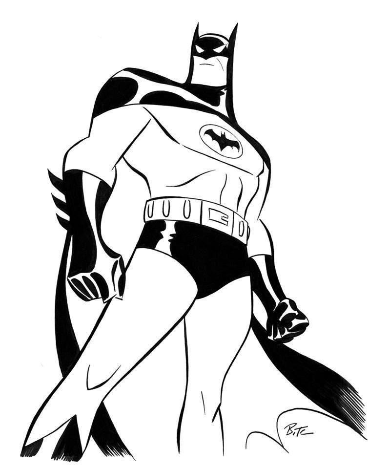 754x960 Bruce Timm Batman Drawing