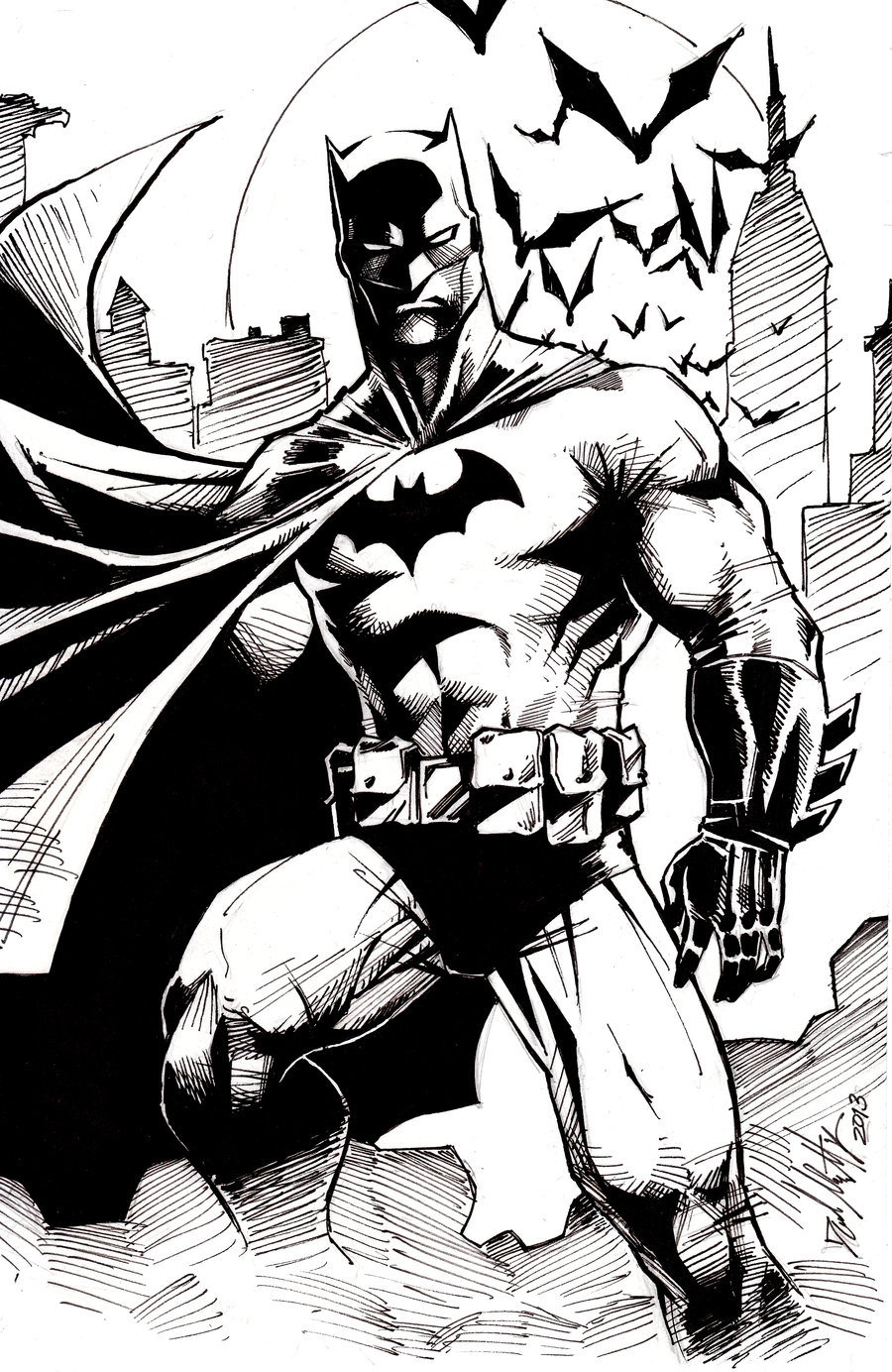 900x1384 Batman Sketch By Dm On @ Drawings