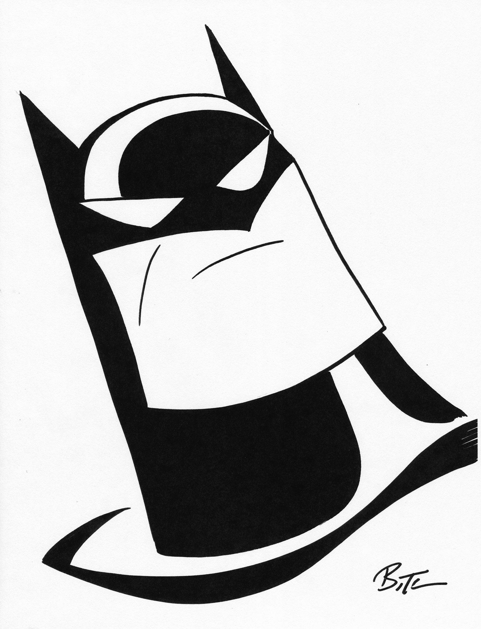 1528x2000 Bruce Timm 2016 Batman Drawing