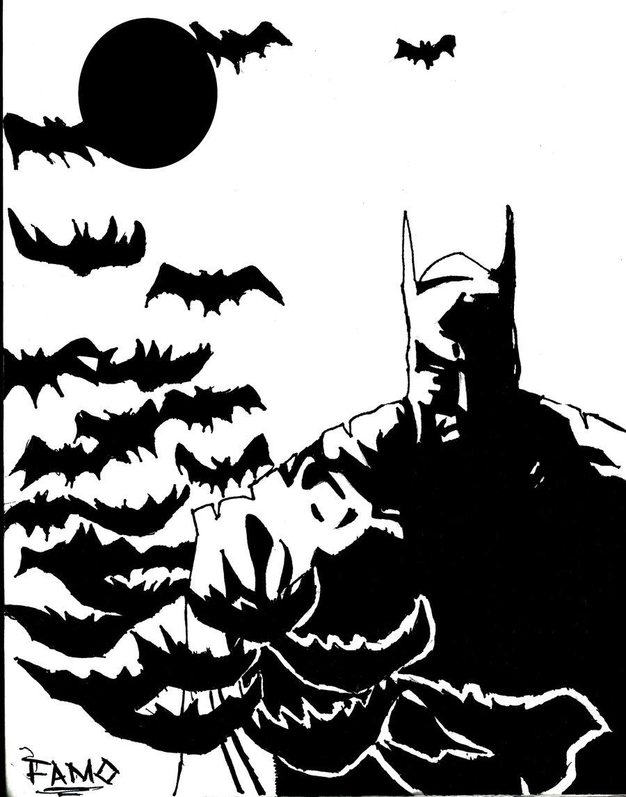 900x1147 Batman Black And White By Famo23