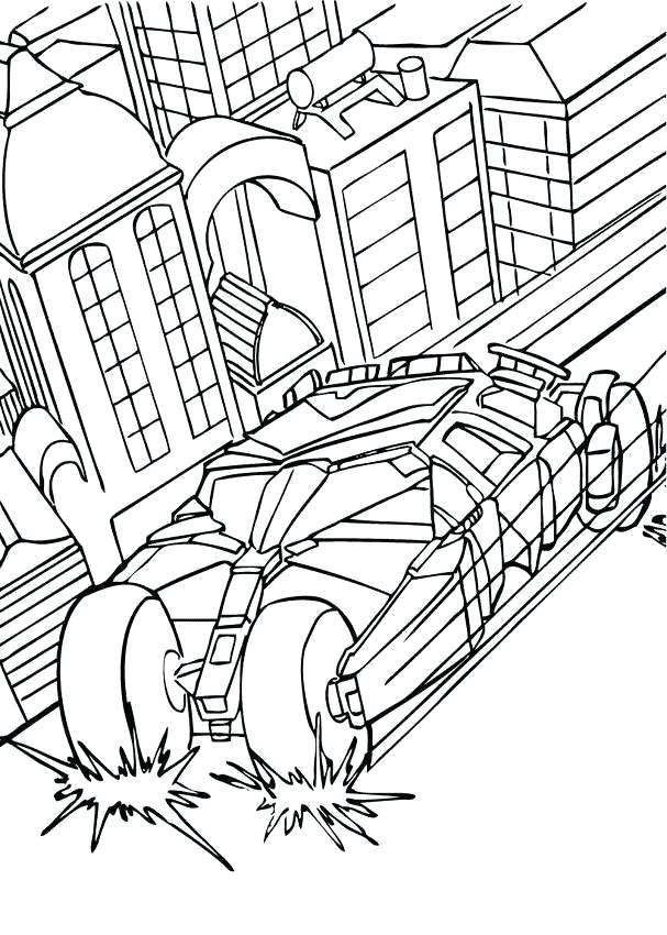 Batman Car Drawing at GetDrawings.com | Free for personal use Batman ...