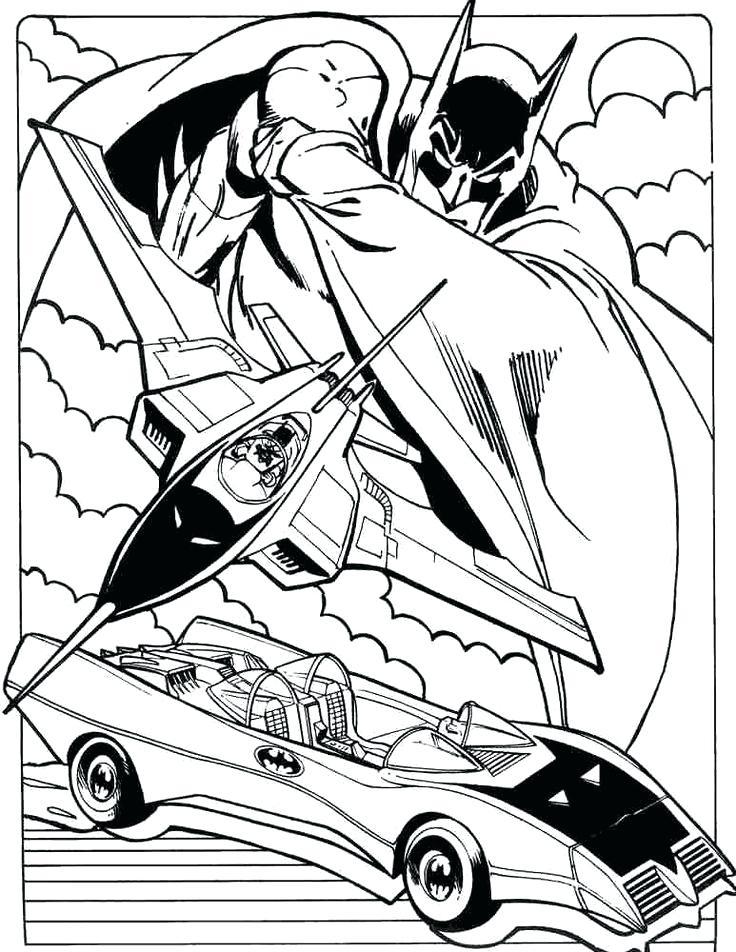 736x952 Batman Car Coloring Pages Page