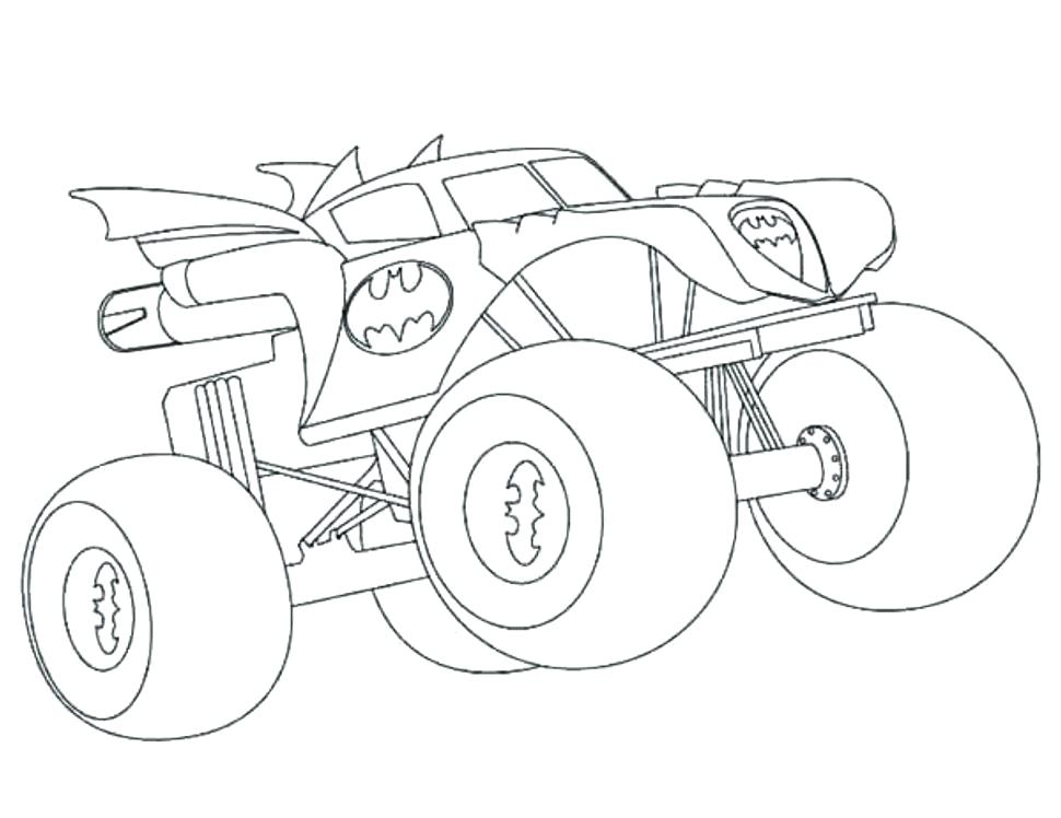 970x748 Batman Monster Truck Coloring Pages