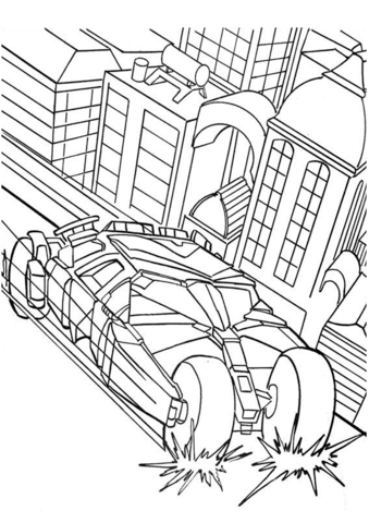 339x480 Batman's Car Coloring Page Free Printable Coloring Pages