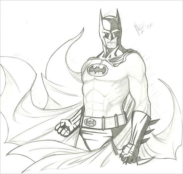 585x556 Fantastic Batman Drawings Download! Free Amp Premium Templates