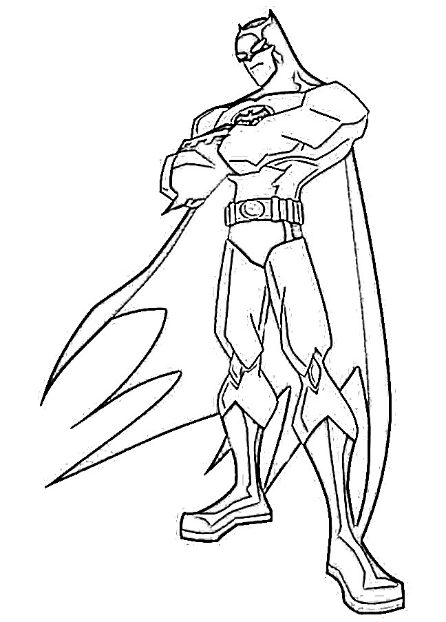648x903 Batman Cartoon Sketch