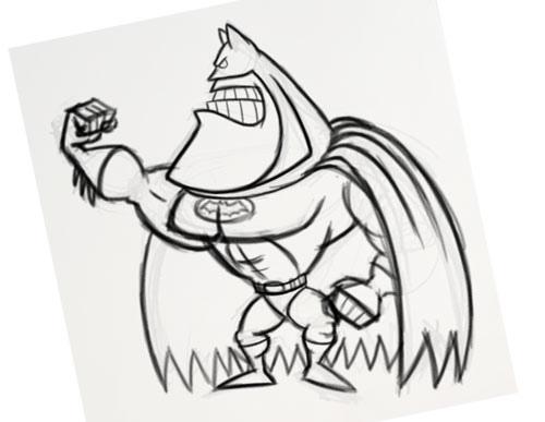 500x387 Batman Cartoon Character Drawing