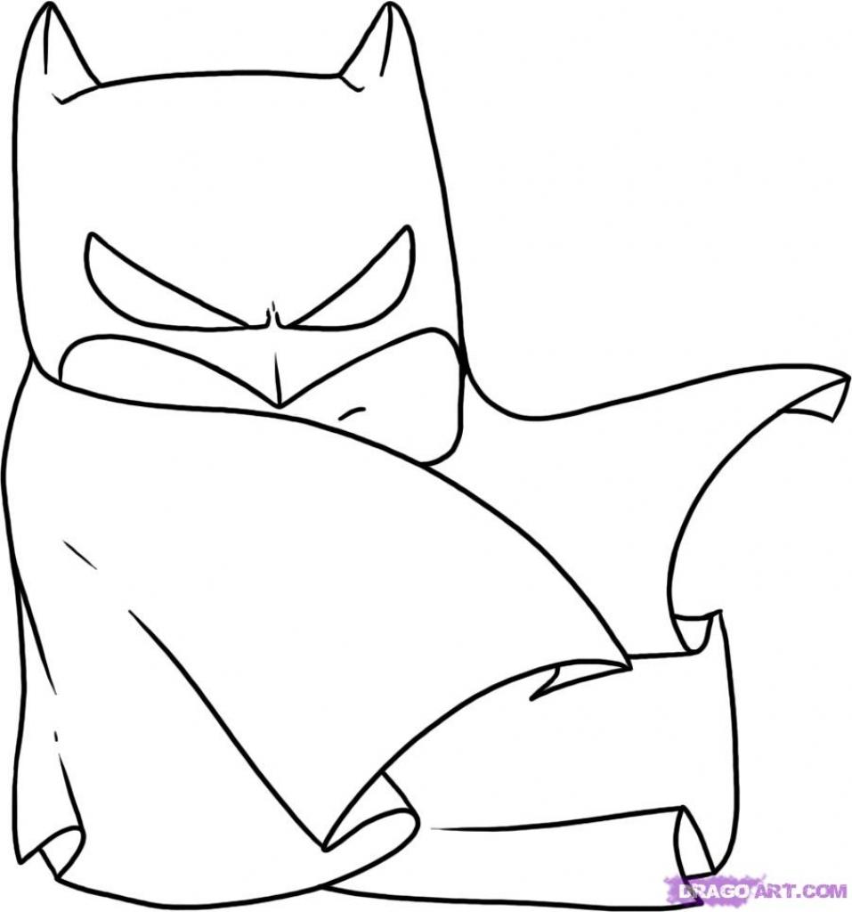 957x1024 Cartoon Batman Drawings How To Draw Chibi Batman, Stepstep, Chibis