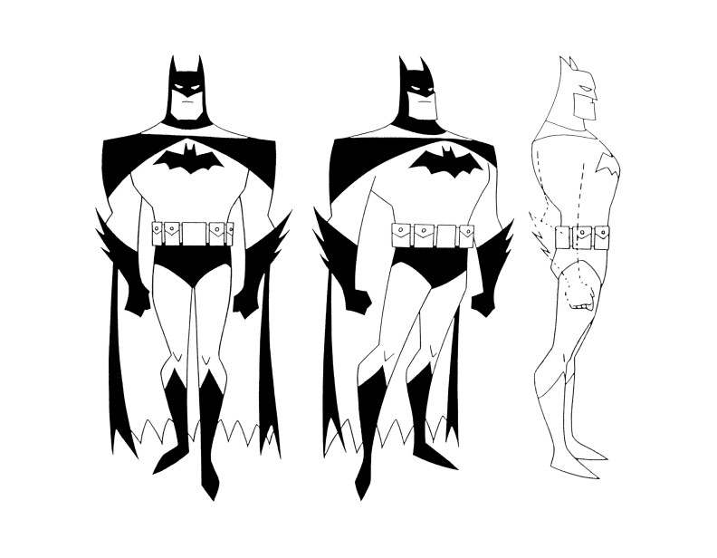 792x616 Cartoon Concept Design Batman The Animated Series Model Sheets