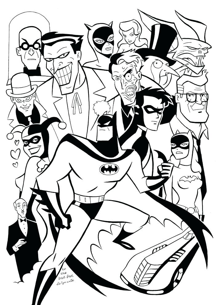 702x992 batman cartoon coloring pages affan