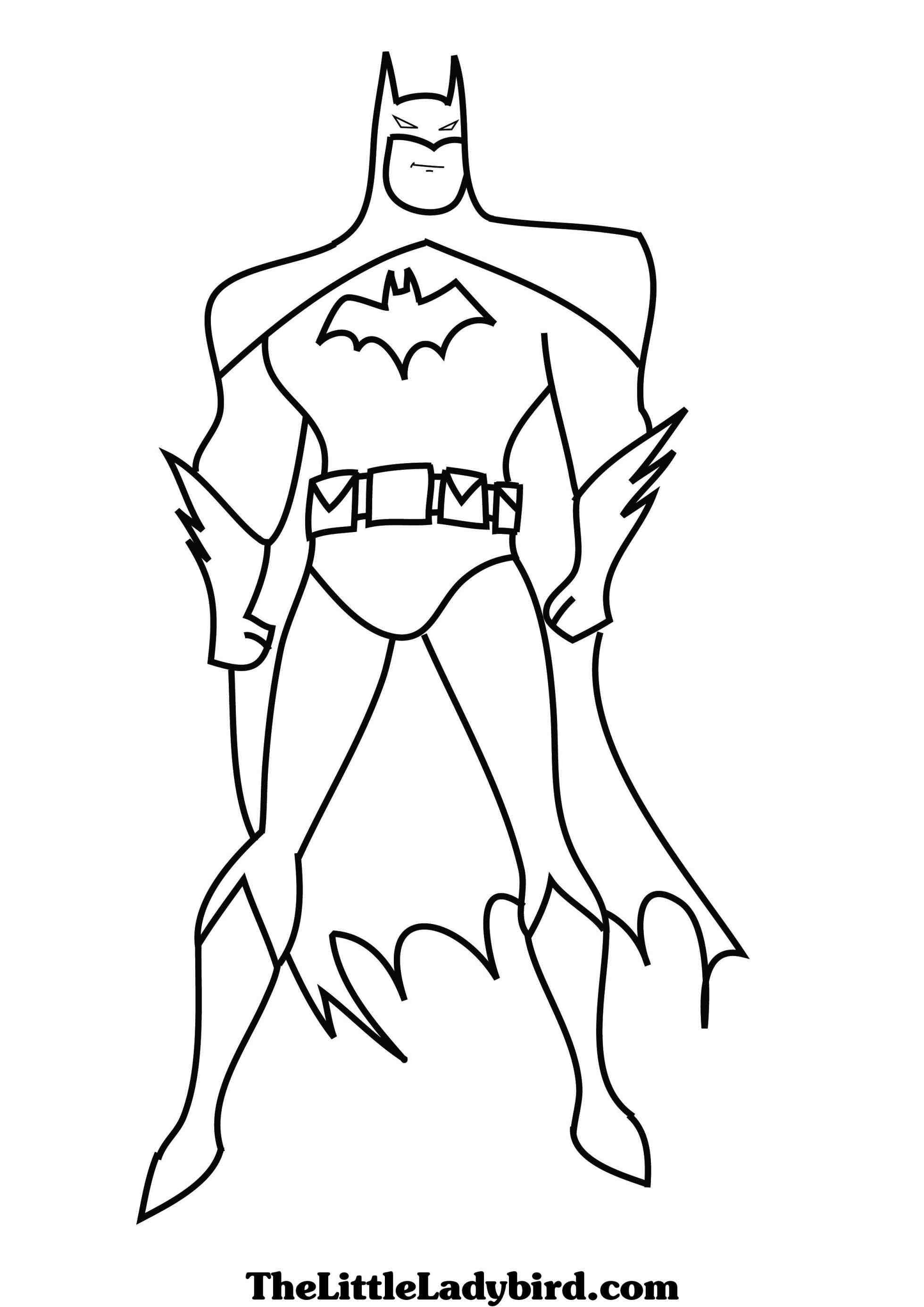 1959x2771 Batman Cartoon Coloring Pages Free Draw To Color