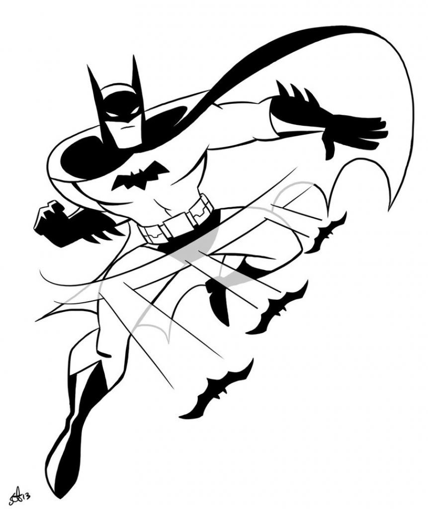 861x1024 Batman Cartoon Sketch
