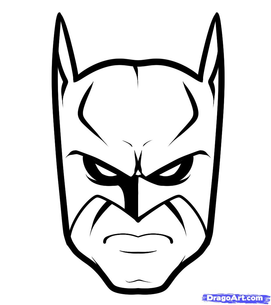 930x1044 Batman Face Drawing How To Draw Batman Easy, Stepstep, Dc Comics