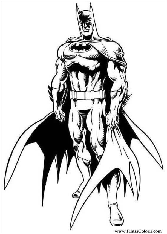 567x794 Drawings To Paint amp Colour Batman