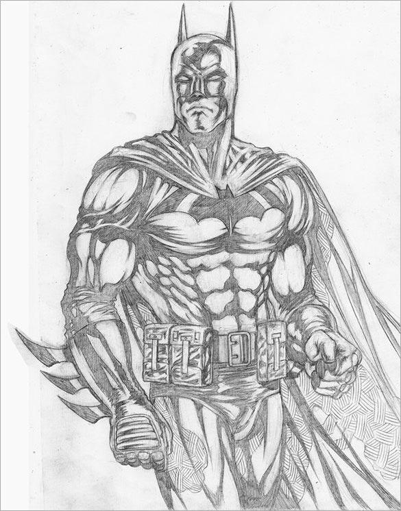 585x746 Gallery Batman Drawings In Pencil Easy,
