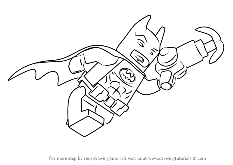 800x567 Learn How To Draw Batman From The Lego Batman Movie (The Lego