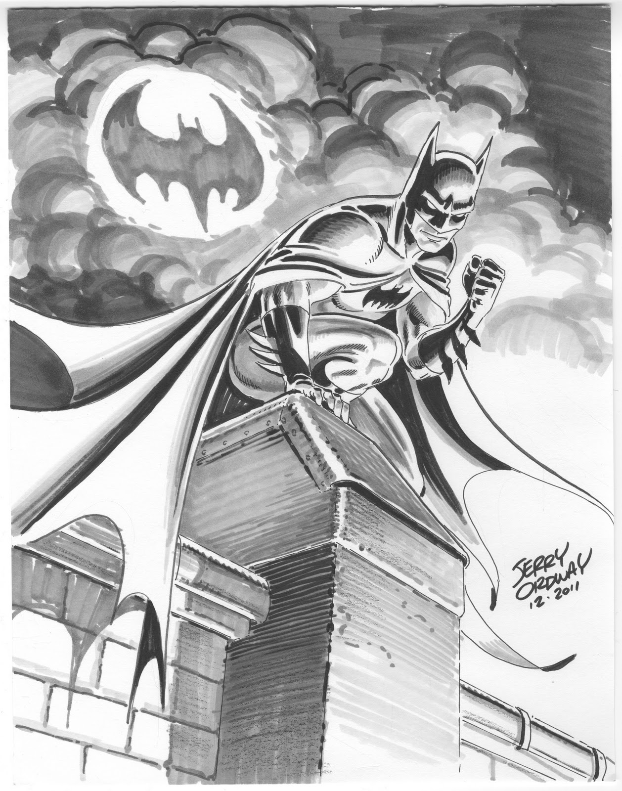 1258x1600 Ordster#39s Random Thoughts Batman tonal drawing with Copic markers