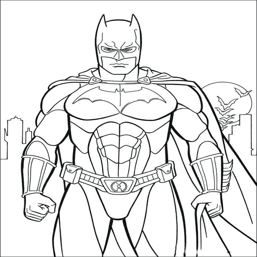 820x820 Batman Coloring Pages To Print