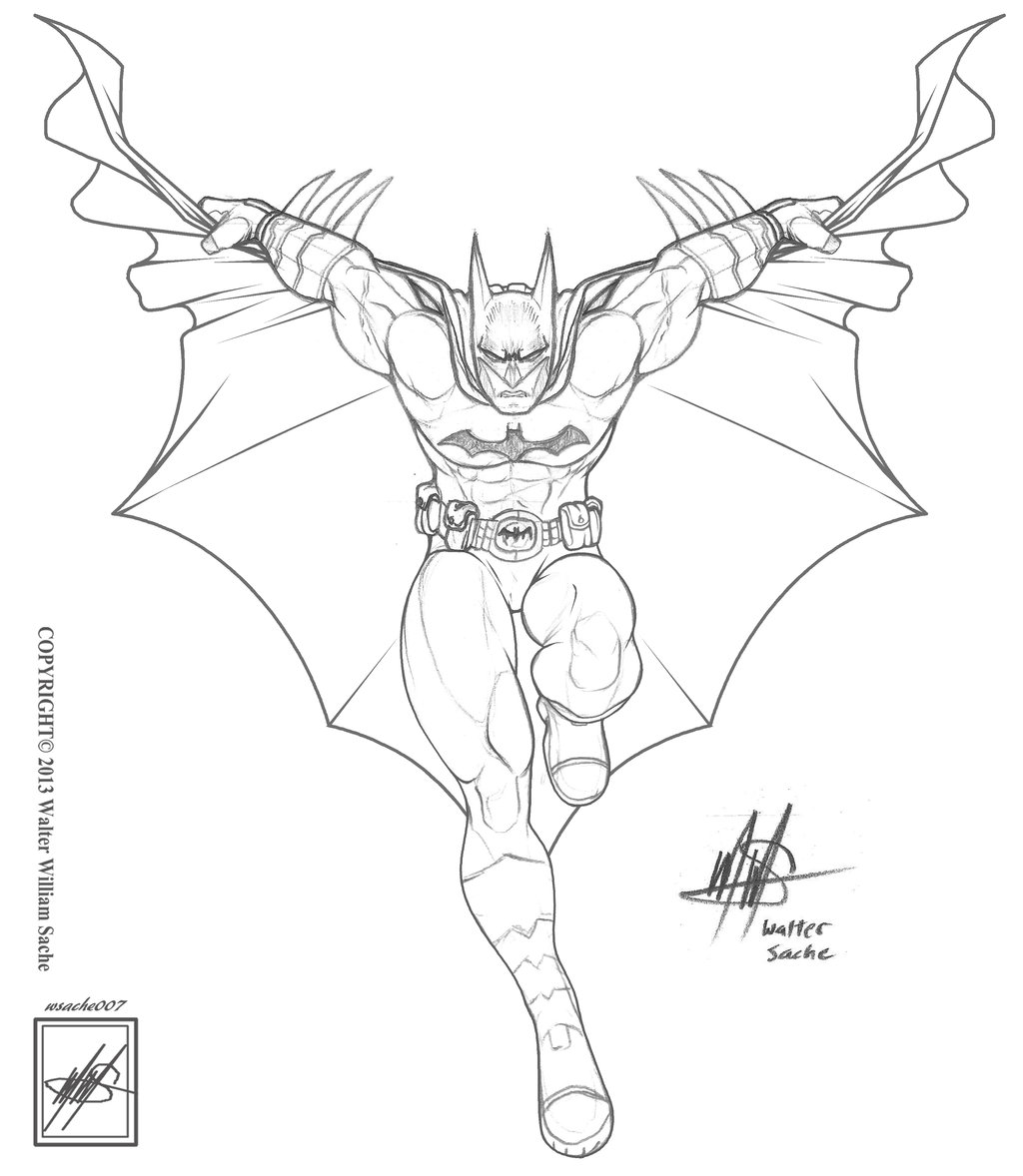 1024x1178 batman sketch drawing Archives