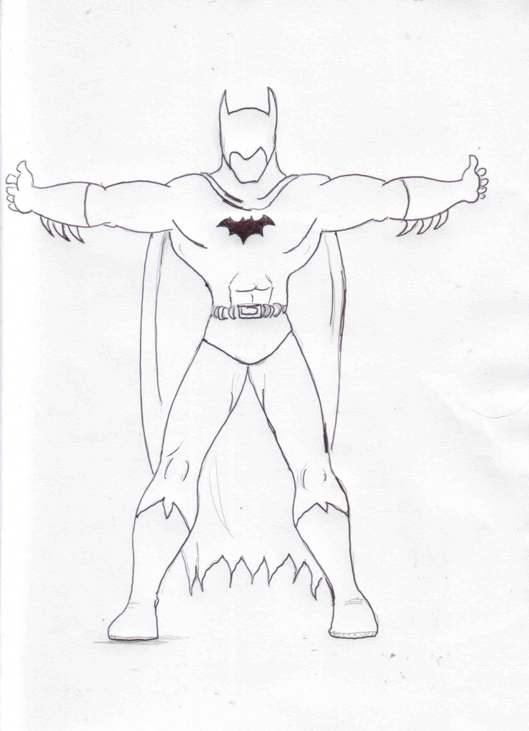 Batman Drawing Easy At Getdrawings Com Free For Personal Use