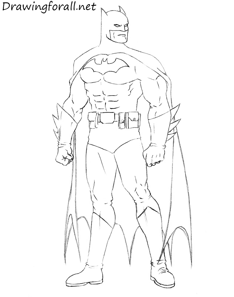 789x1000 Drawing Pictures Of Batman How To Draw Batman Stepstep