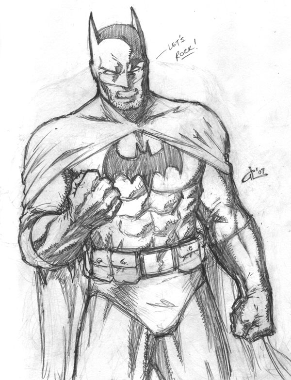 600x784 Easy Batman Pencil Drawings