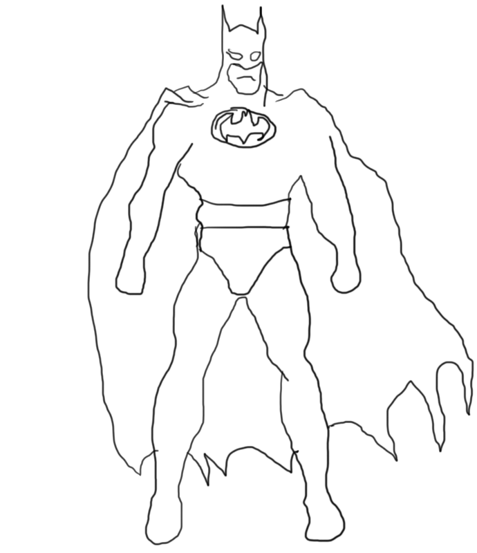 690x800 Pictures Batman Drawings For Kids,