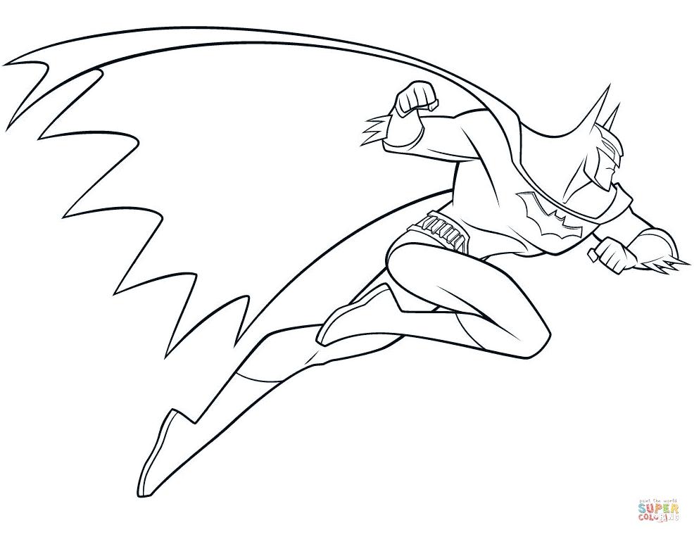 986x763 Batman Coloring Pages Free