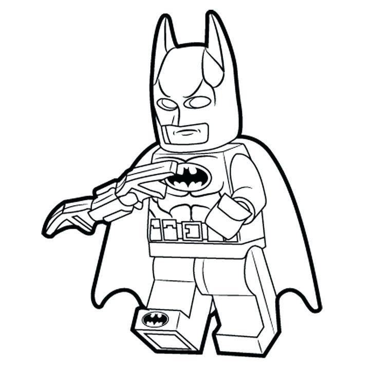 761x715 Lego Batman Coloring Page Printable Pages
