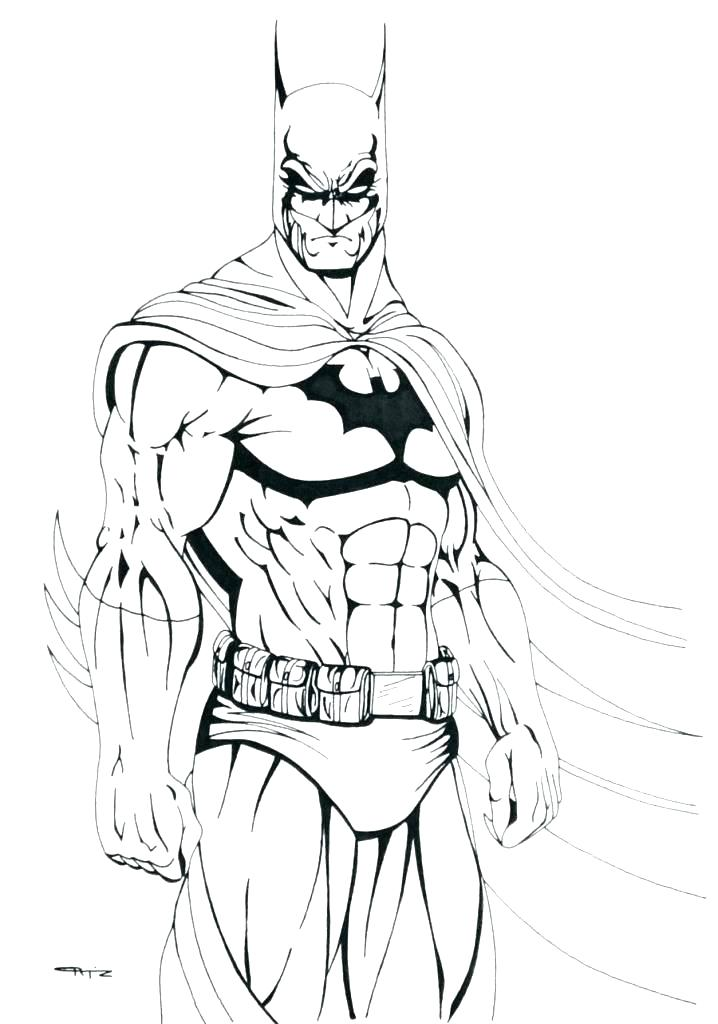 718x1024 Free Coloring Pages Batman Of