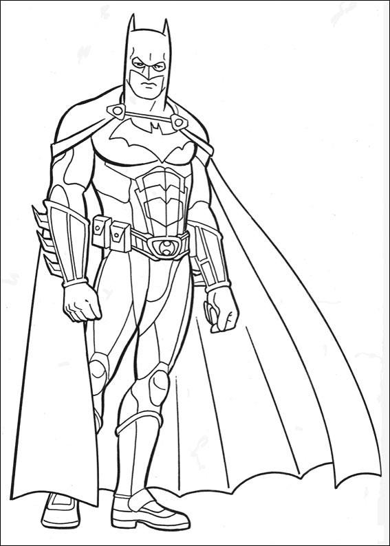 567x794 Batman Coloring Page