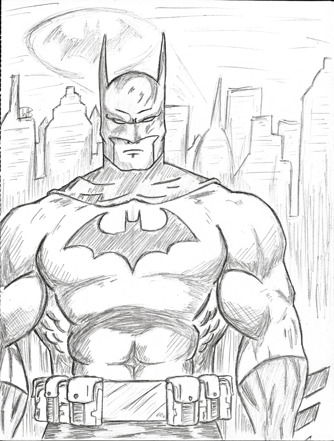 Batman Easy Drawing At Getdrawings Com Free For Personal Use