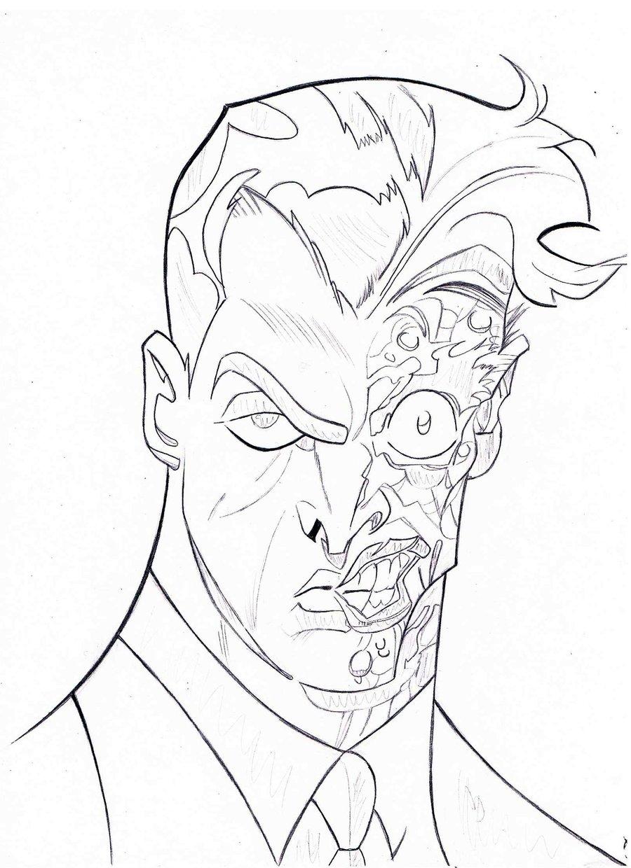 Batman Face Drawing at GetDrawings