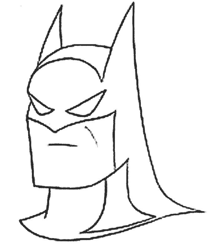 Batman Head Drawing At Getdrawingscom Free For Personal Use