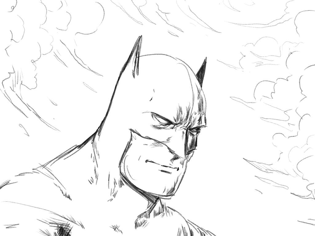 1024x768 Simple Drawing Sketch Of Batman Batman Drawings Batman Line