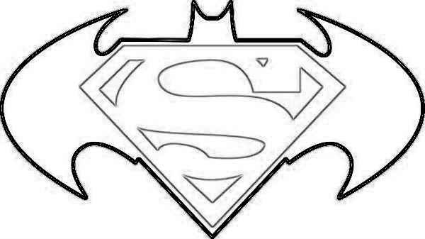 600x337 batman logo coloring pages superman with regard to symbol page