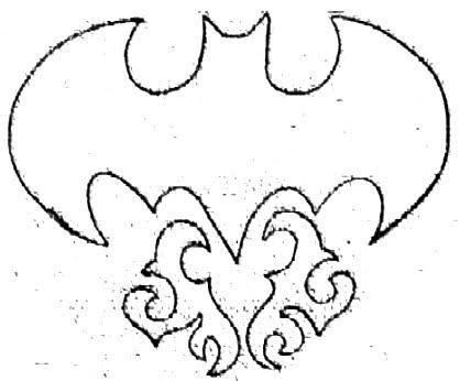 418x346 Cool Batman Symbol Tattoo Design Batman Logo Bat Batman