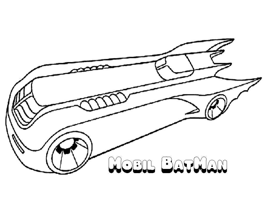 1024x768 Batman Batmobile Coloring Pages Print