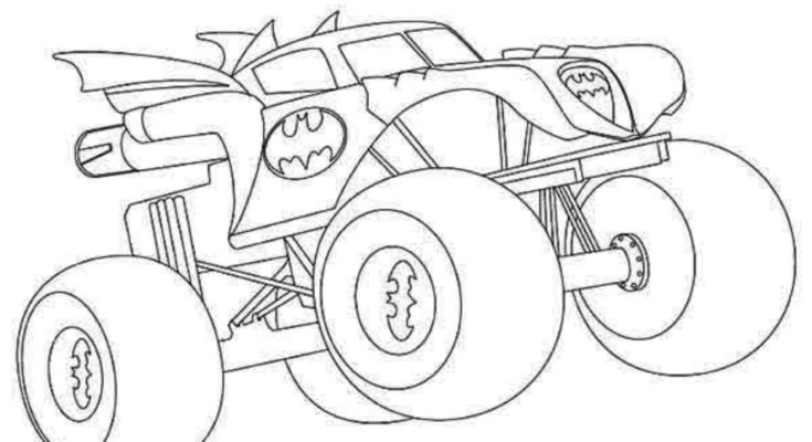 735x400 Batman Coloring Batman Coloring Page Truck Batman Coloring Pages